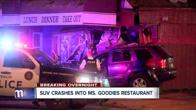 SUV crashes into Buffalo restaurant