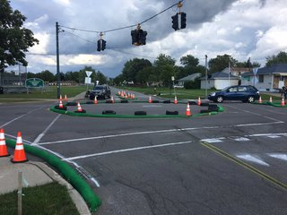 T.O.T. gives new roundabout a one day trial