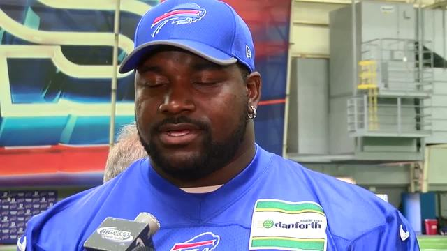 Bills' Dareus upbeat after suspension; McDermott reacts