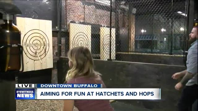 Hatchets and Hops finally offers the full axe-throwing experience