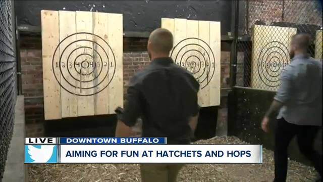 Learn to throw axes at Hatchets and Hops