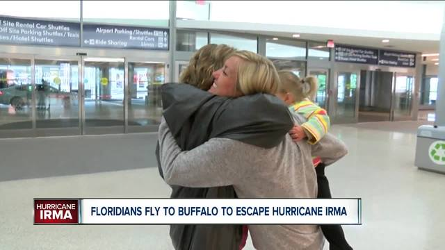 Some Floridians are traveling to safer places to avoid Hurricane Irma including right here in Buffalo