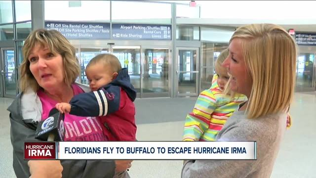 Florida Families Fly to CT to Take Shelter From Irma