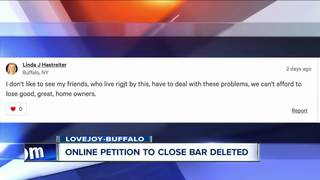 Petition to shutdown Lovejoy bar gets deleted