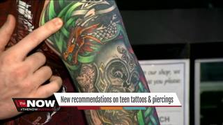 New guidelines on teens & tattoos, piercings