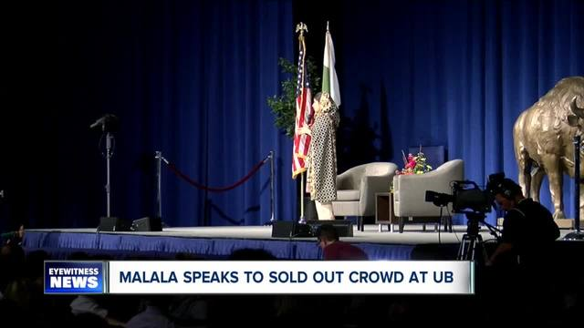 Malala Yousafzai- the youngest Nobel Prize winner ever- inspires in speech at UB