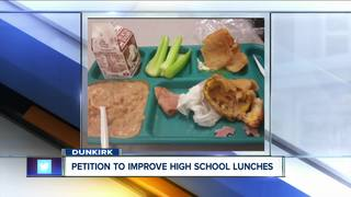 Student demands bigger and better school lunches