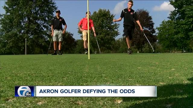 Akron-s Nate Forrestel defying the odds on the golf course