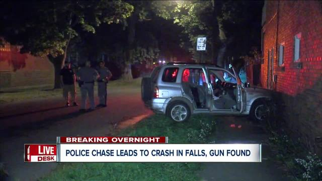 Niagara Falls police chase ends with SUV crash into building