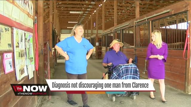 Diagnosis not discouraging one man from Clarence