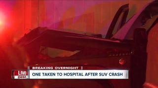 SUV driver crashes into row of Buffalo homes