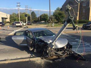 Amherst Police investigating four car crash