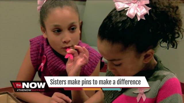 Sisters are making pins to make a difference