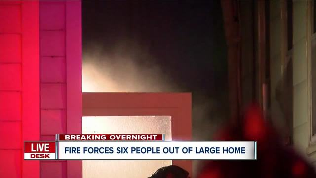 Fire forces seven people out of Buffalo home