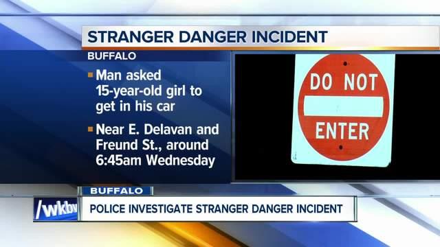 Stranger danger alert involving 15-year-old girl