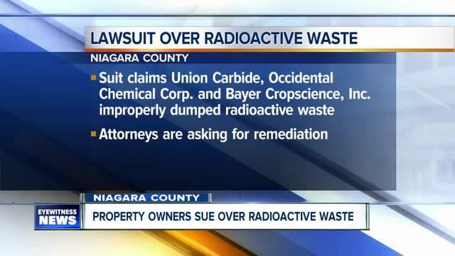 Niagara County residents sue over radioactive waste storage