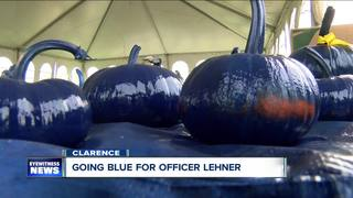 Going blue for Officer Lehner
