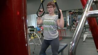 Cerebral palsy not deterring female body builder