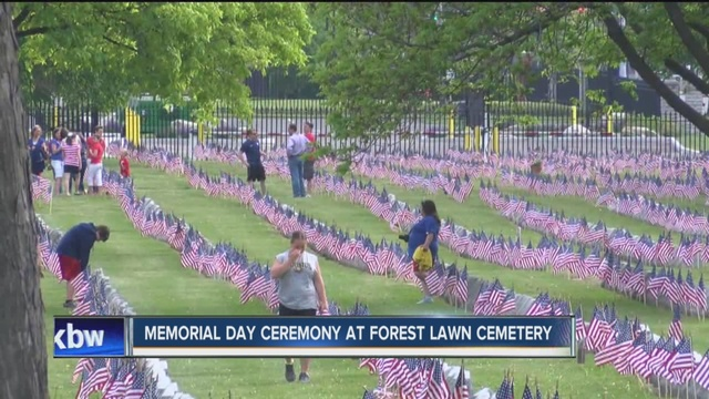 Flags line Forest Lawn Cemetery for Memorial Day - WKBW.com Buffalo, NY