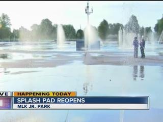 Splash pads open