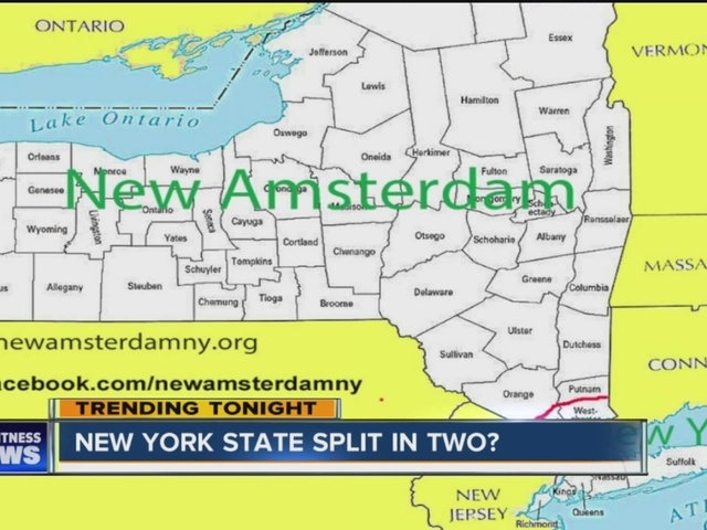 WNY To Secede From NYS Become New Amsterdam WKBWcom Buffalo NY - Where is amsterdam