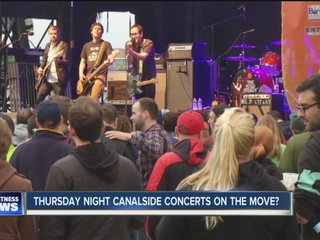 Canalside concerts will no longer be free