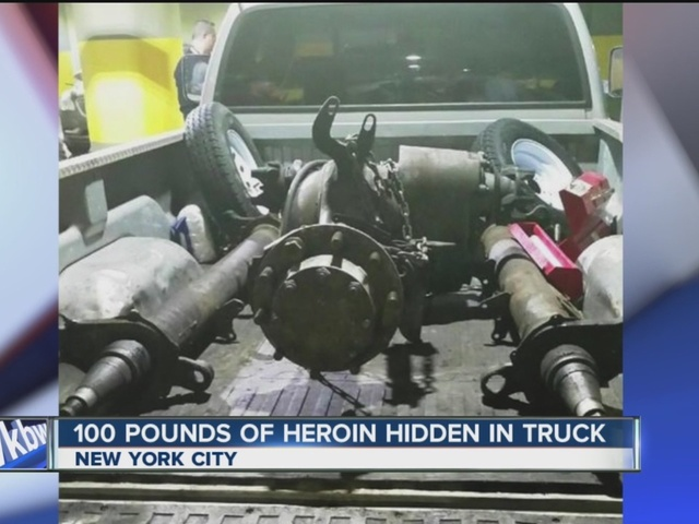 100 pounds of heroin hidden in car parts