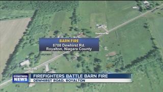 Alert neighbor reports fire at chicken coop