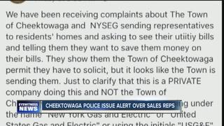 Cheektowaga police warning about solicitors