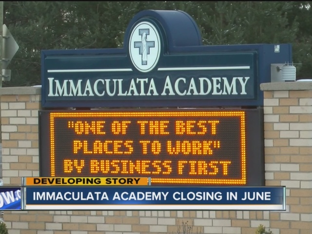 immaculata academy closing at end of school year