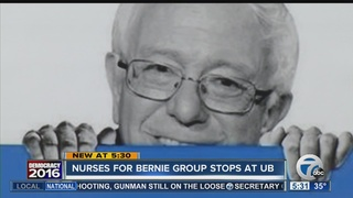 Nurses for Bernie Bus Tour stops at UB