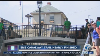 Erie Canalway Trail 80 percent complete