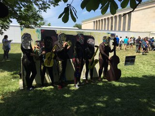 Art came to life Saturday at the Albright Knox