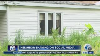 Woman shames neighboring homes on social media