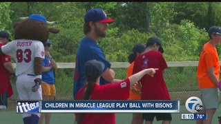 Buffalo Bisons play ball with Miracle League