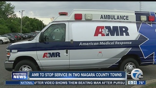 AMR stopping service in two Niagara County towns
