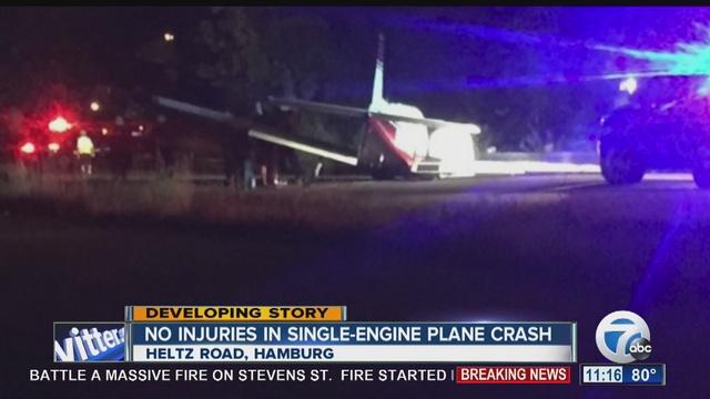 plane crashes into hamburg field after takeoff