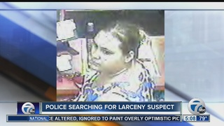 Police looking for woman connected to larceny