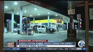 Police looking for suspect in Sunoco robbery