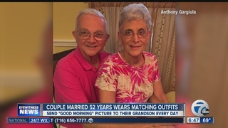 Couple married 52 years match outfits daily