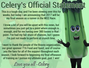 Celery to retire from Buffalo Bisons