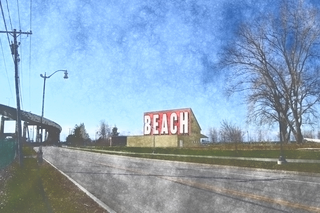 Beach and barn come together at the Outer Harbor