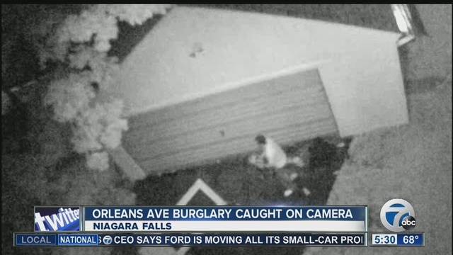 niagara falls burglary caught on tape wkbw com buffalo ny
