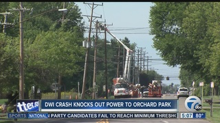 DWI crash causes massive power outage in O.P.