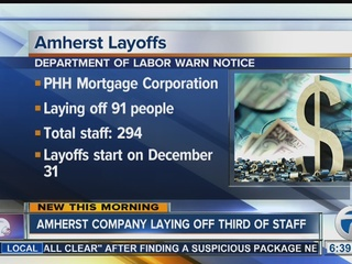 PHH Mortgage to lay off 91 workers in Amherst