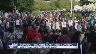Buffalo teacher picket blocks traffic