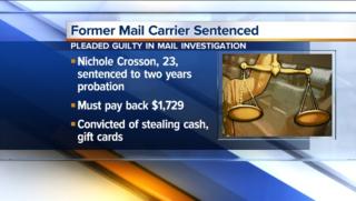 Former letter carrier avoids prison time