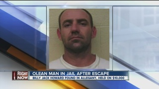 Olean man in jail after an escape