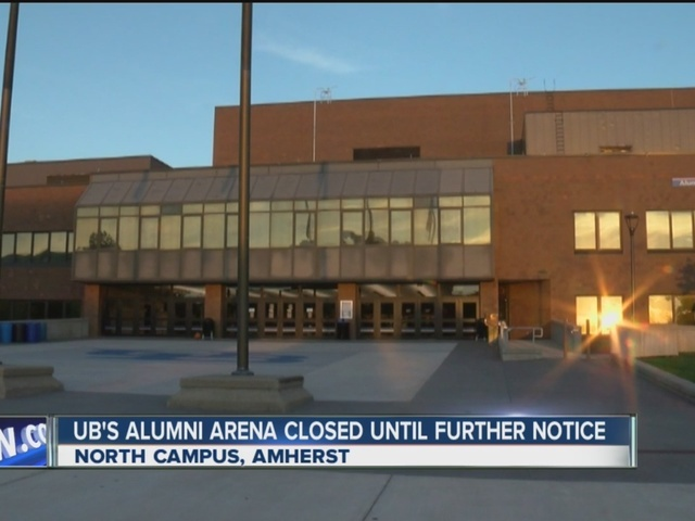 update  ub u0026 39 s alumni arena back open after electrical fire