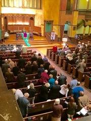 Mass Mob helps a local church